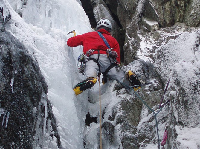 mixed winter climbing snowdonia