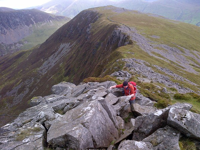 guided hike and scramble on the nantlle ridge
